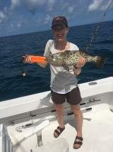 The biggest catch of the day, a Gag Grouper