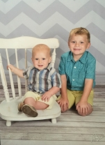The boy's school pictures