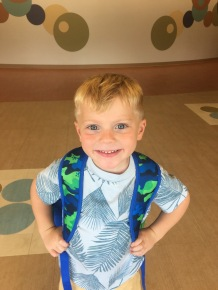 Sawyer's first day at his new school