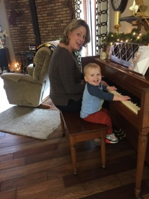 Playing piano with Aunt Jules