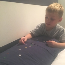 magic confetti for sweet dreams before his first day