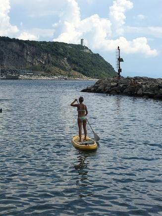 Paddle boarding at Sistiana
