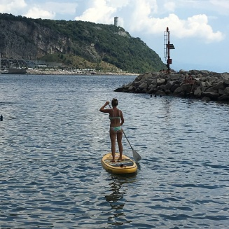 Paddle boarding at Sistiana